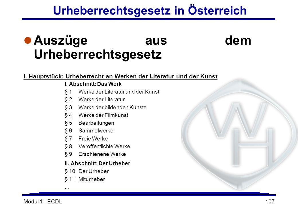 Urheberrechtsgesetz in Österreich