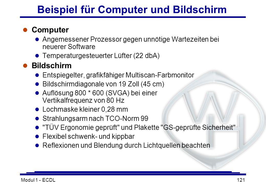 Beispiel für Computer und Bildschirm