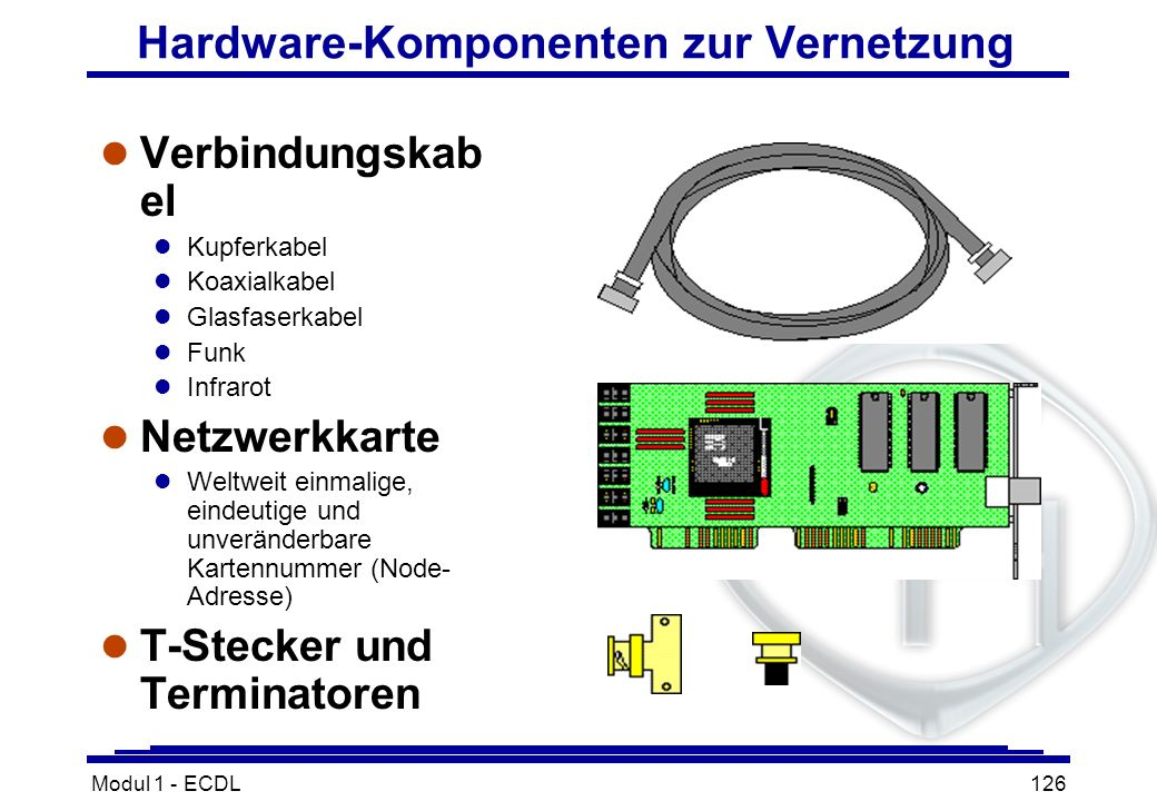 Hardware-Komponenten zur Vernetzung