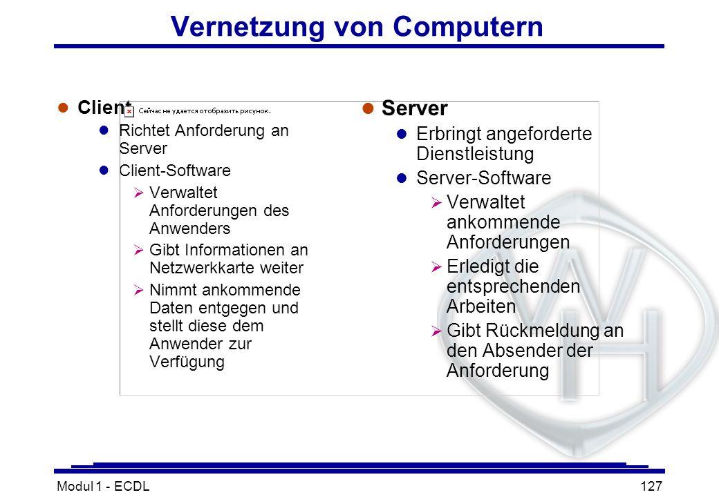 Vernetzung von Computern
