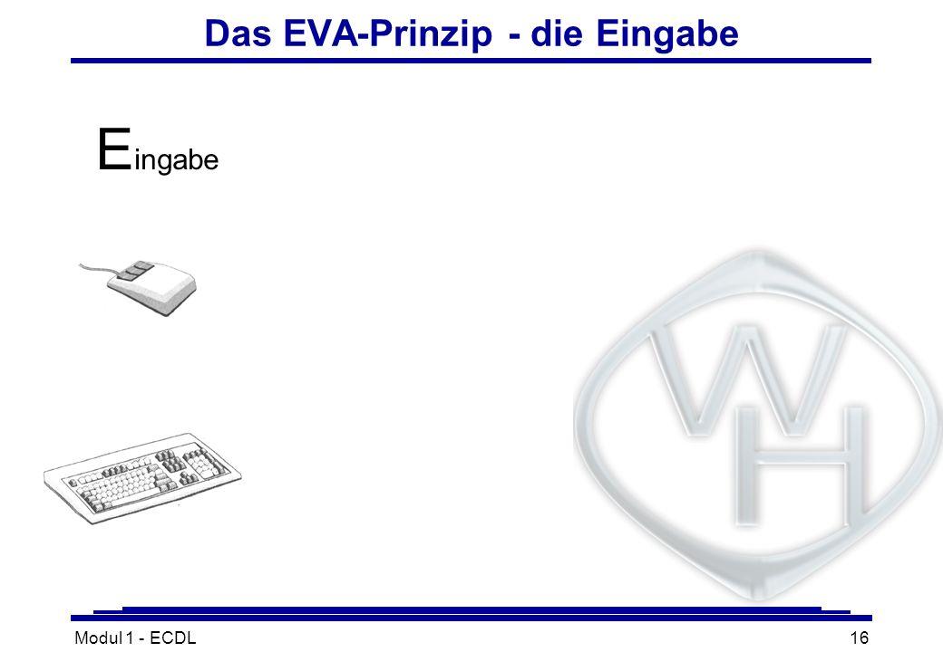 Das EVA-Prinzip - die Eingabe