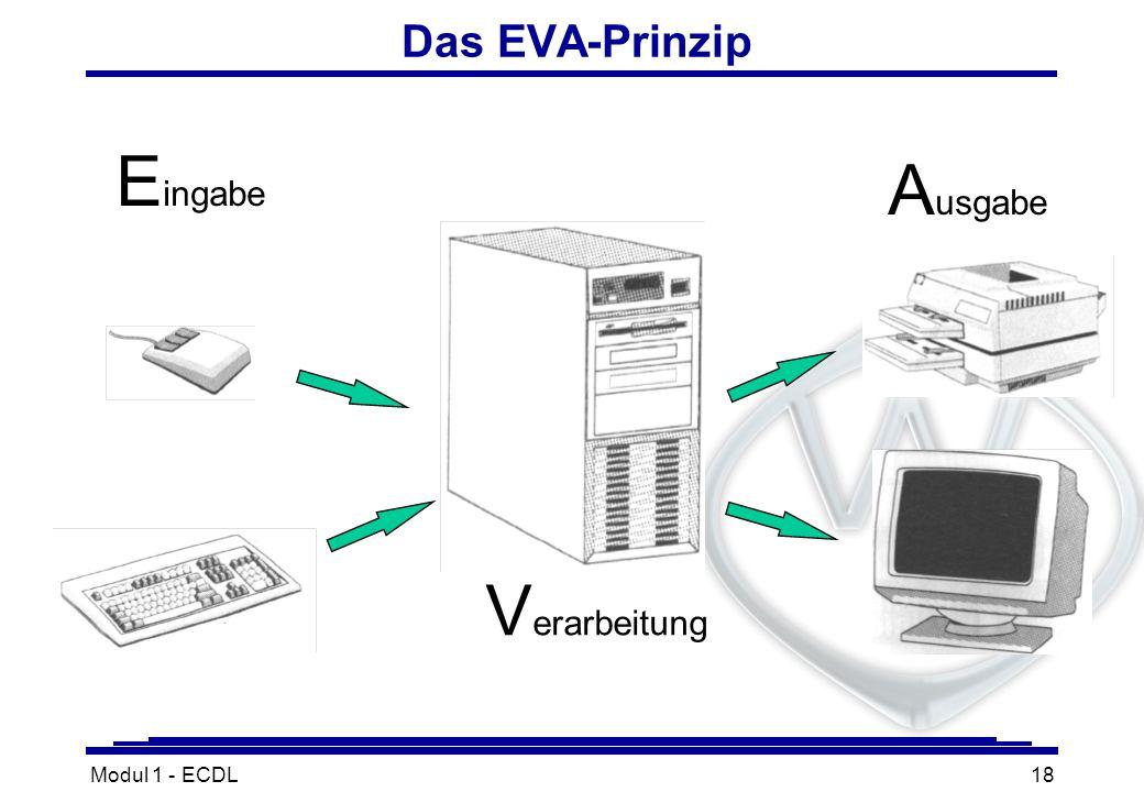 Das EVA-Prinzip Eingabe Ausgabe Verarbeitung Modul 1 - ECDL