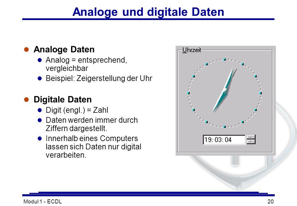 Analoge und digitale Daten