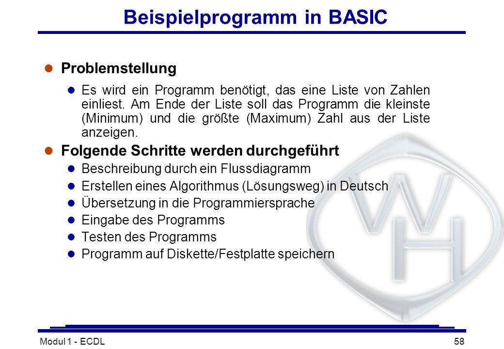 Beispielprogramm in BASIC