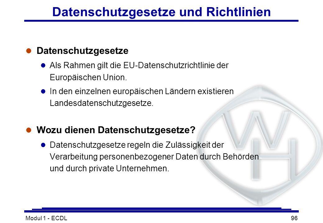 Datenschutzgesetze und Richtlinien