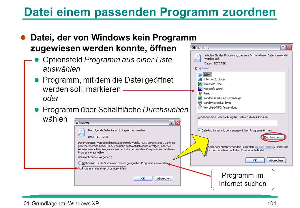 Datei einem passenden Programm zuordnen