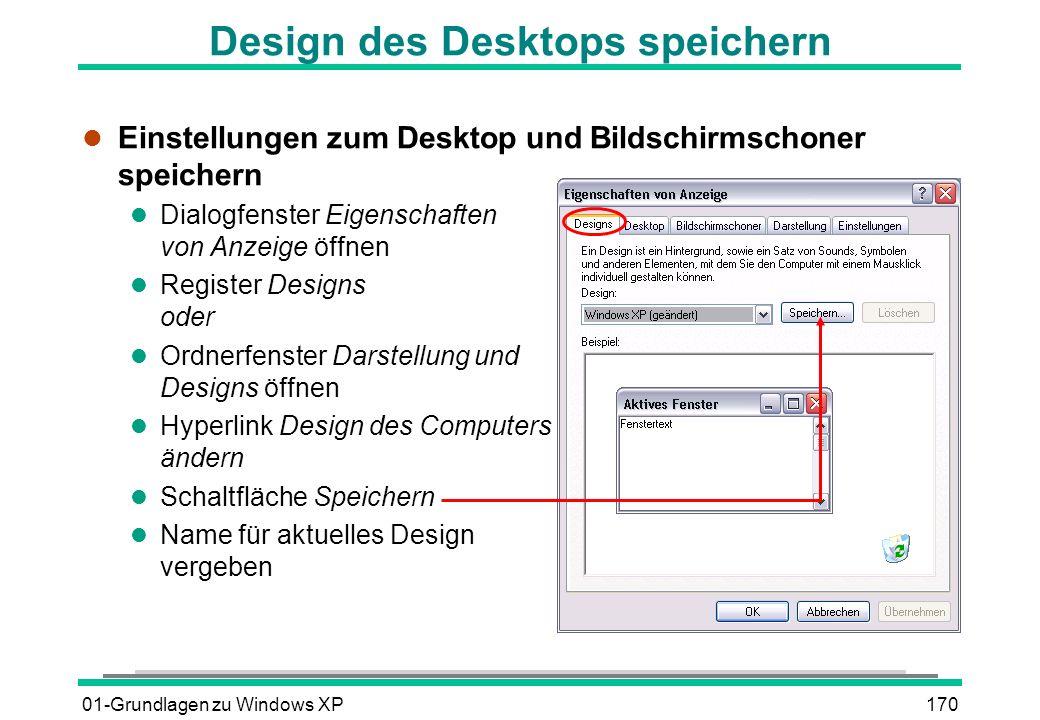 Design des Desktops speichern