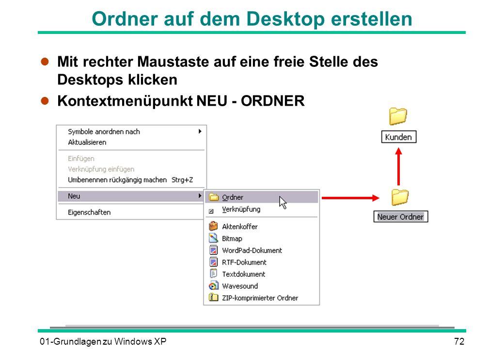 Ordner auf dem Desktop erstellen