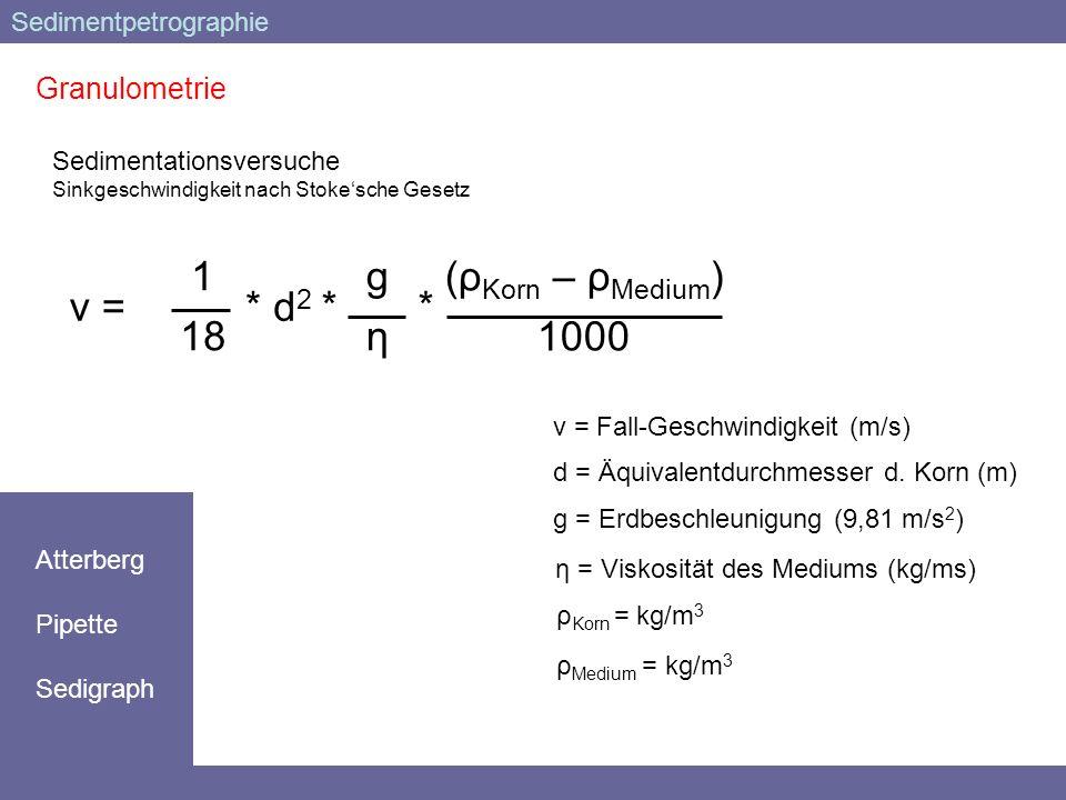 η = Viskosität des Mediums (kg/ms)
