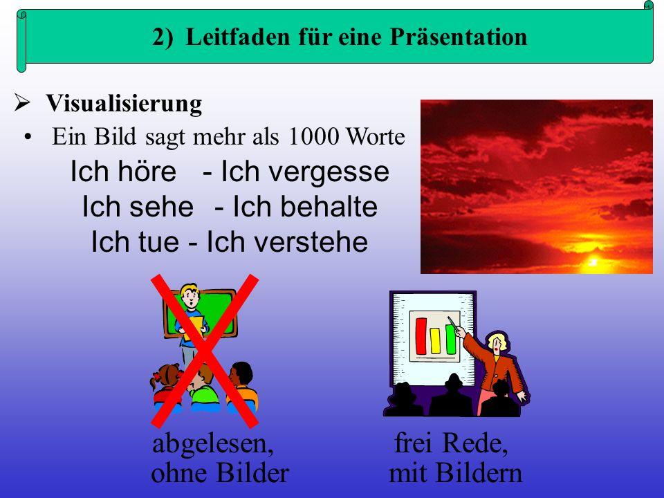 2) Leitfaden für eine Präsentation