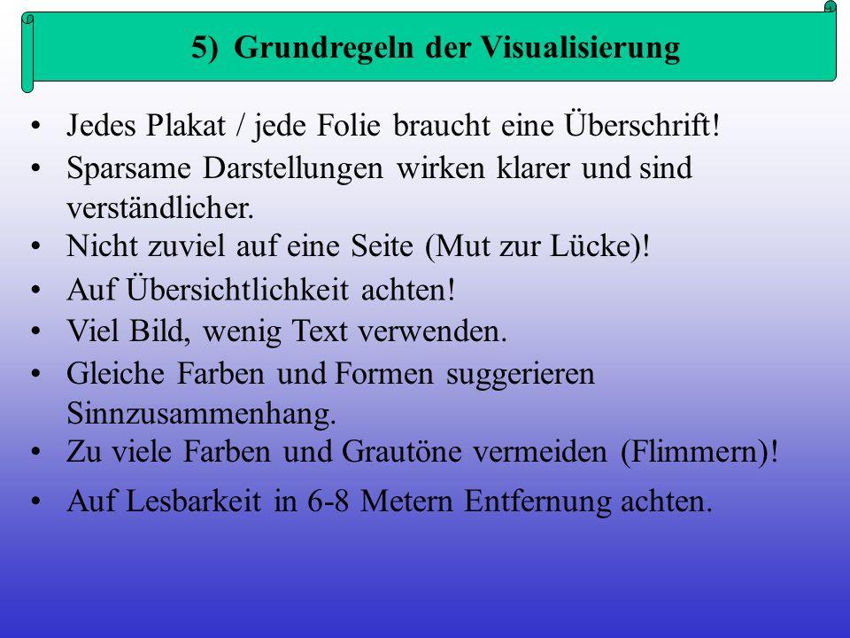 5) Grundregeln der Visualisierung