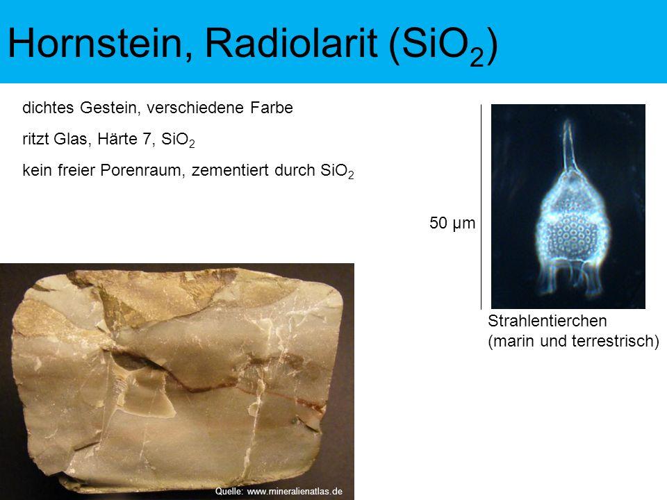 Hornstein, Radiolarit (SiO2)