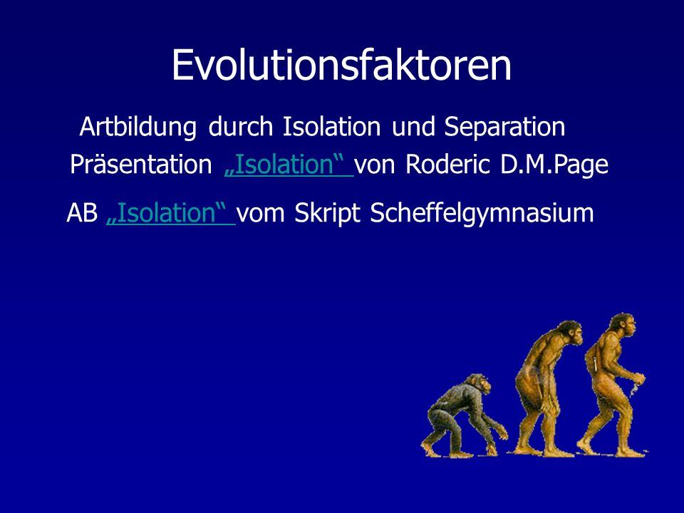 """Präsentation """"Isolation von Roderic D.M.Page"""