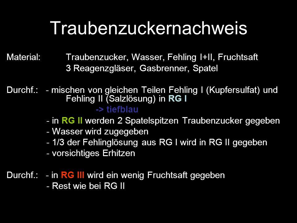Traubenzuckernachweis