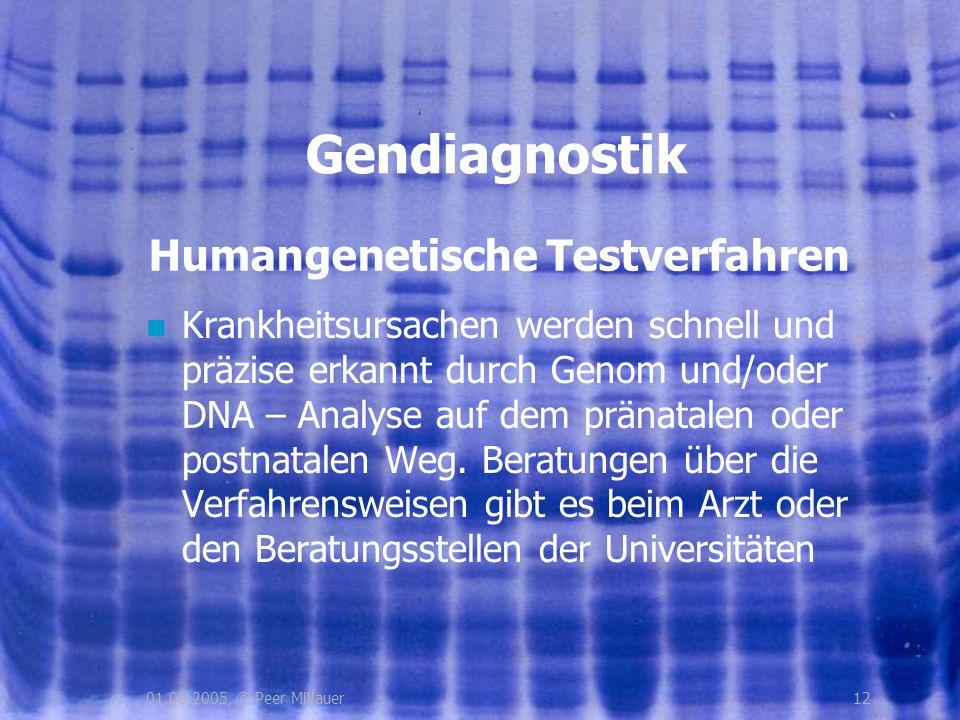 Humangenetische Testverfahren