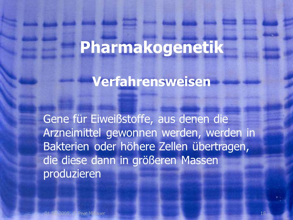 Pharmakogenetik Verfahrensweisen