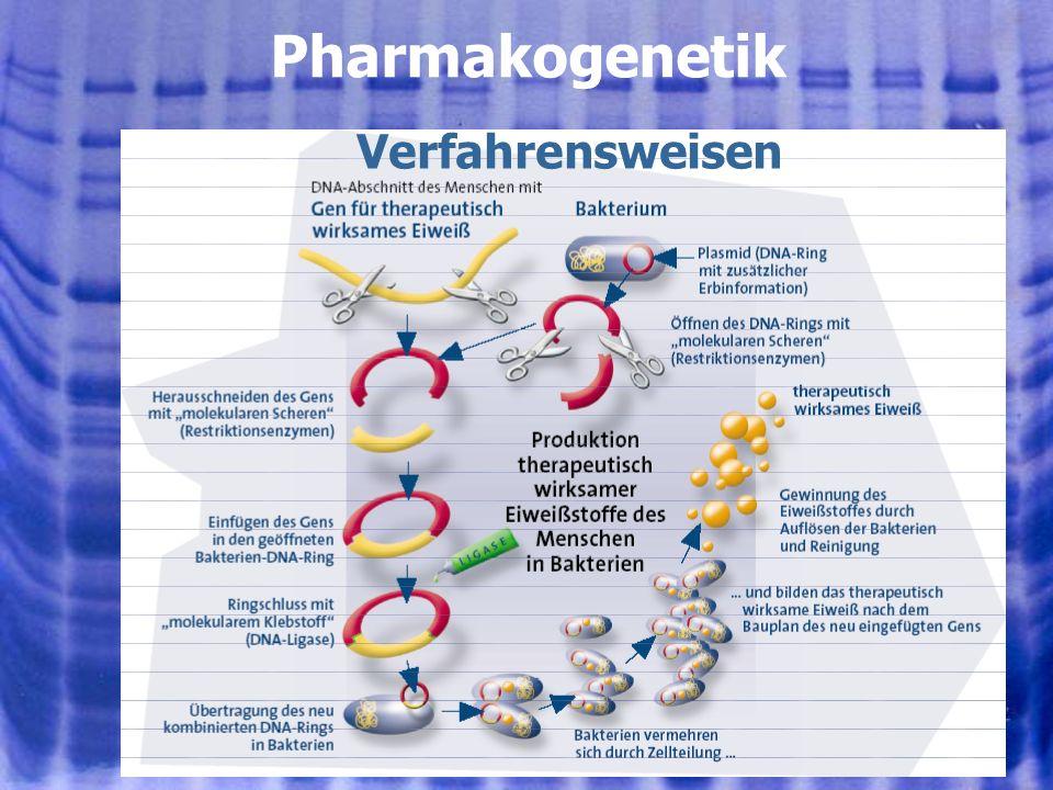Pharmakogenetik Verfahrensweisen 01.08.2005, © Peer Millauer 19