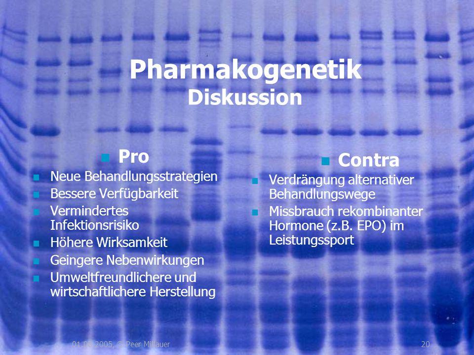 Pharmakogenetik Diskussion
