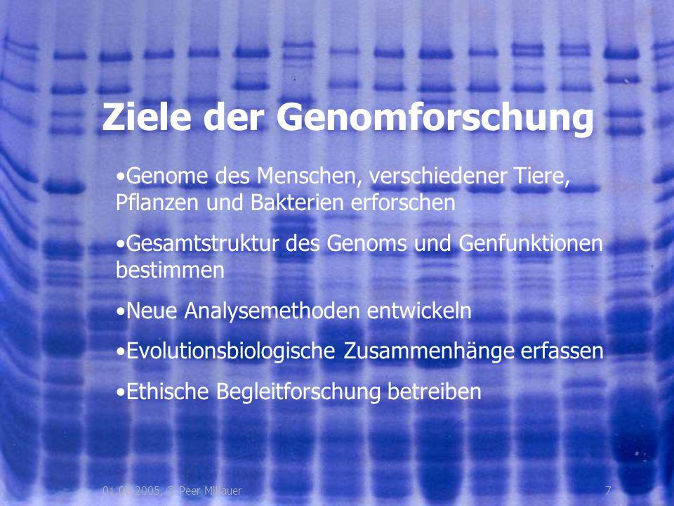Ziele der Genomforschung
