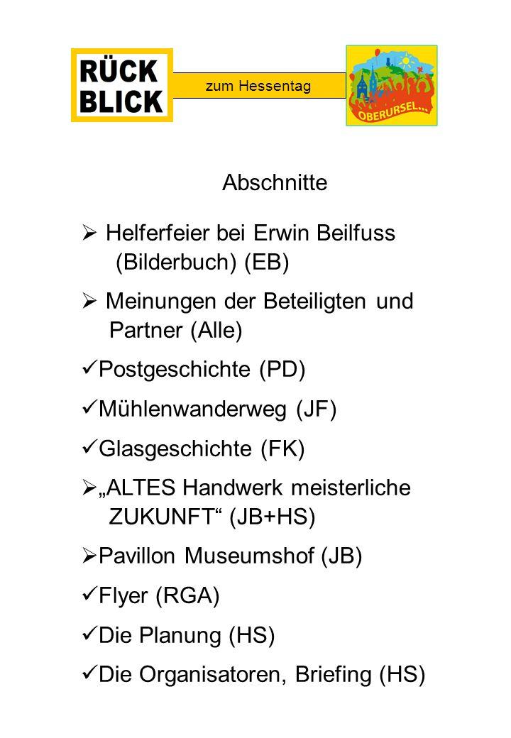 Helferfeier bei Erwin Beilfuss (Bilderbuch) (EB)