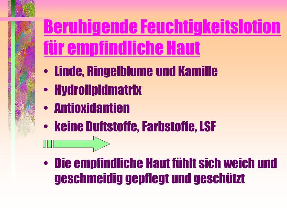 Beruhigende Feuchtigkeitslotion für empfindliche Haut