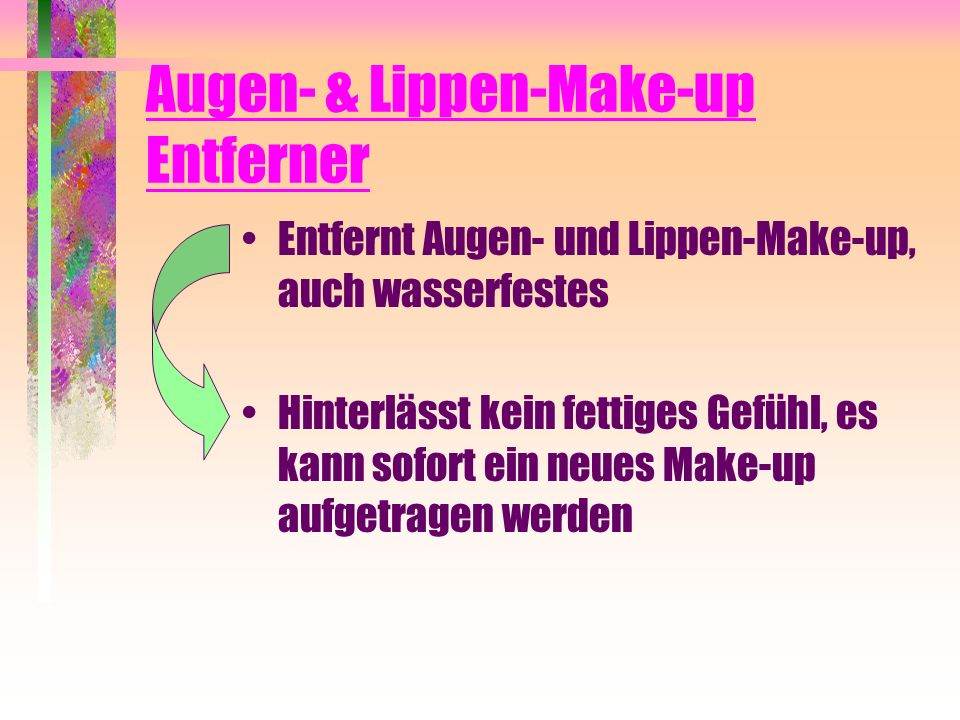 Augen- & Lippen-Make-up Entferner