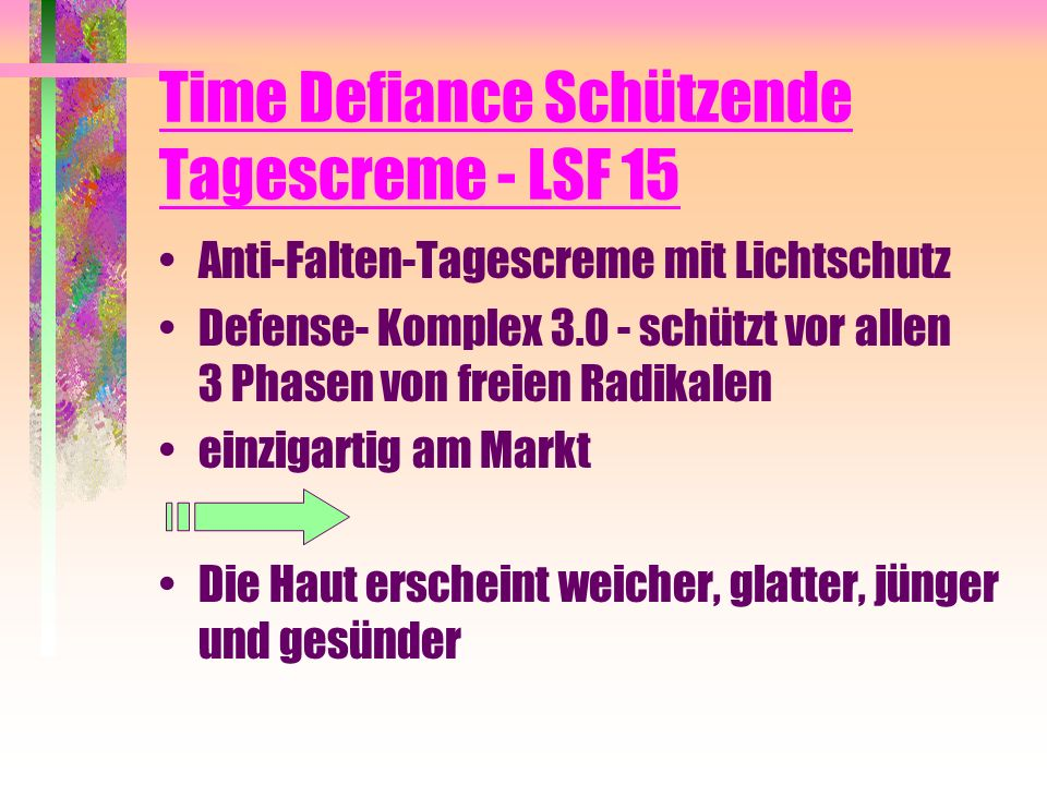 Time Defiance Schützende Tagescreme - LSF 15