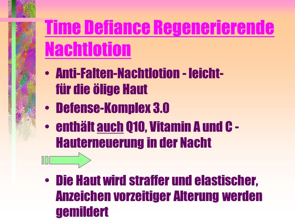 Time Defiance Regenerierende Nachtlotion