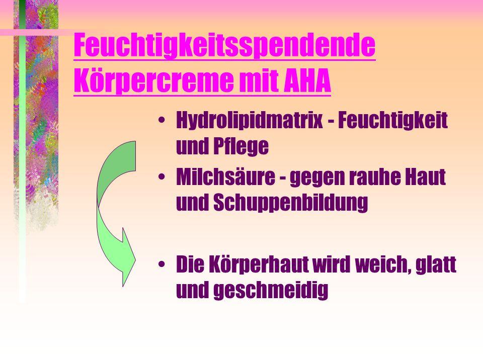 Feuchtigkeitsspendende Körpercreme mit AHA