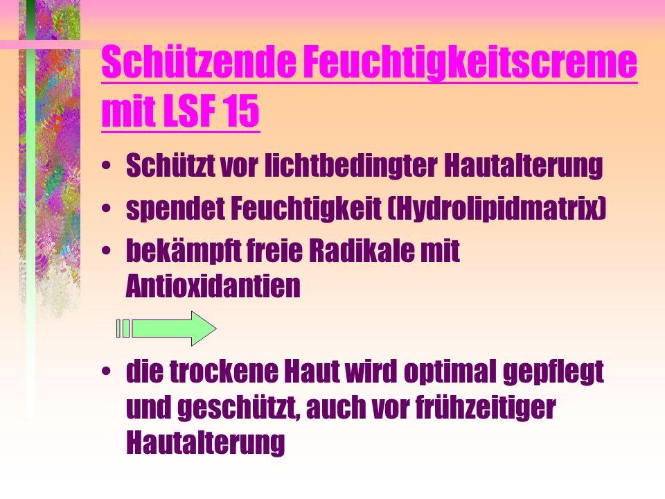 Schützende Feuchtigkeitscreme mit LSF 15