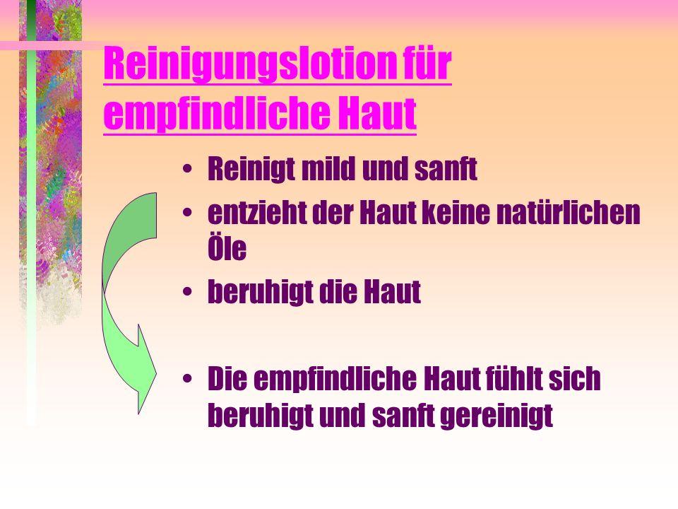 Reinigungslotion für empfindliche Haut
