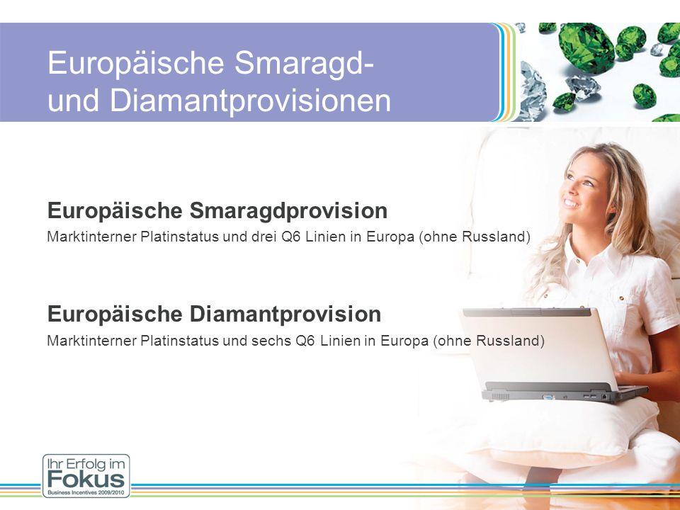 Europäische Smaragd- und Diamantprovisionen