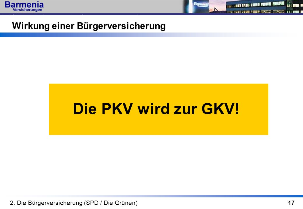 Die PKV wird zur GKV! Wirkung einer Bürgerversicherung
