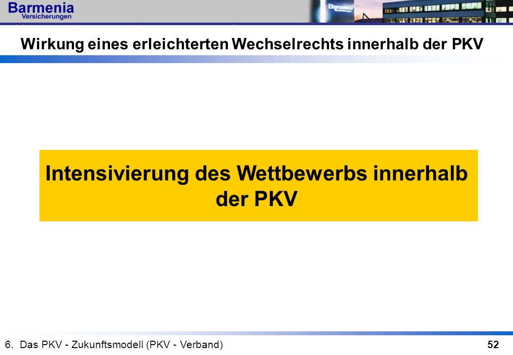 Intensivierung des Wettbewerbs innerhalb der PKV