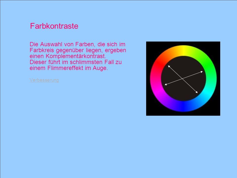 Farbkontraste