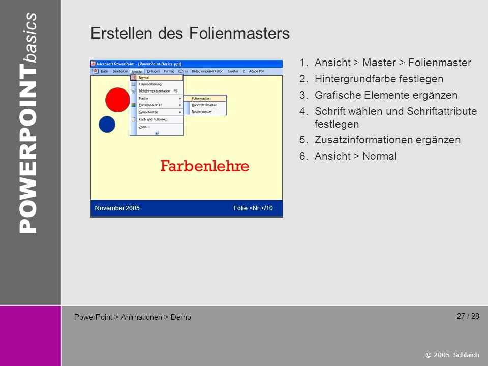 PowerPoint > Animationen > Demo
