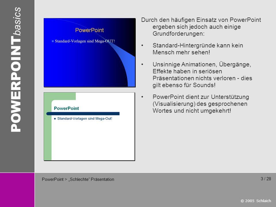 """PowerPoint > """"Schlechte Präsentation"""