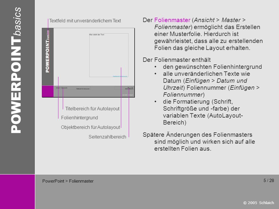 PowerPoint > Folienmaster