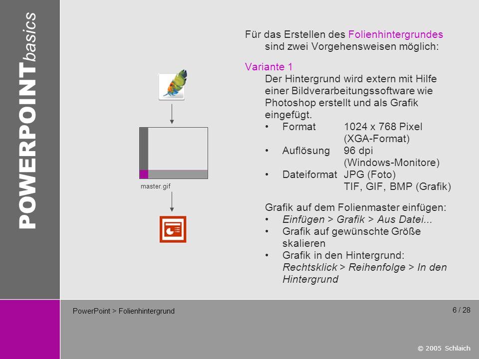 PowerPoint > Folienhintergrund