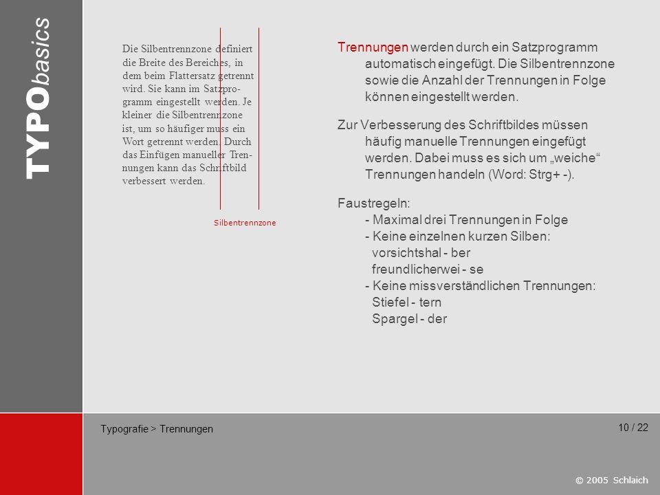 Typografie > Trennungen