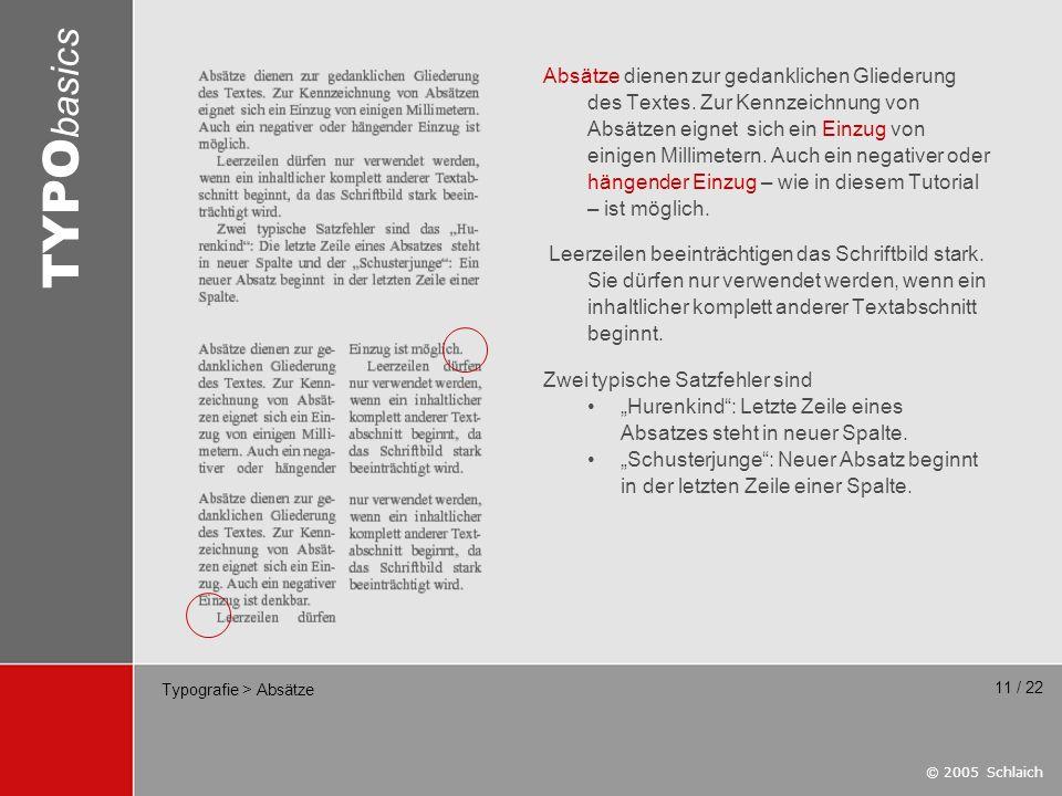 Typografie > Absätze
