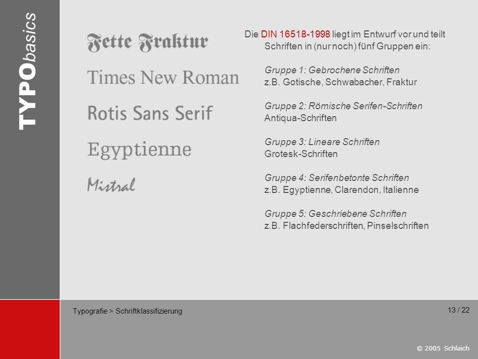 Typografie > Schriftklassifizierung