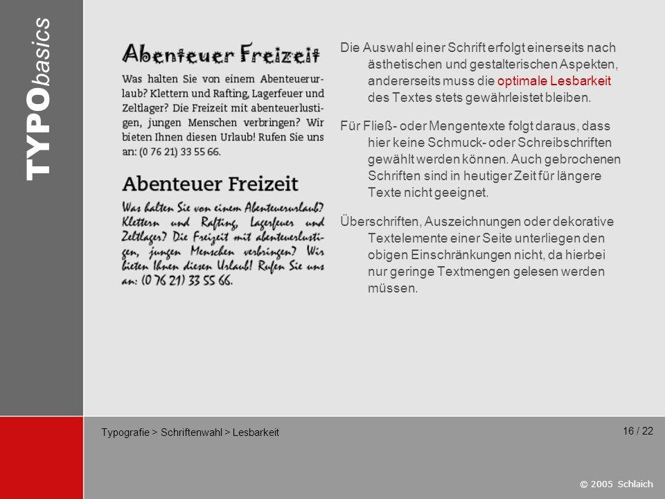 Typografie > Schriftenwahl > Lesbarkeit
