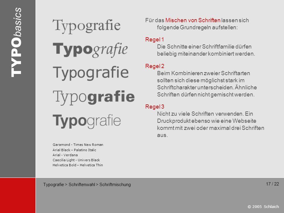 Typografie > Schriftenwahl > Schriftmischung