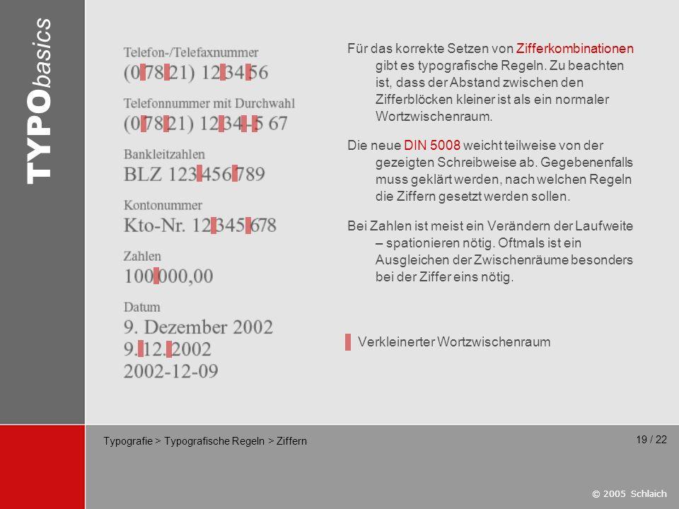 Typografie > Typografische Regeln > Ziffern