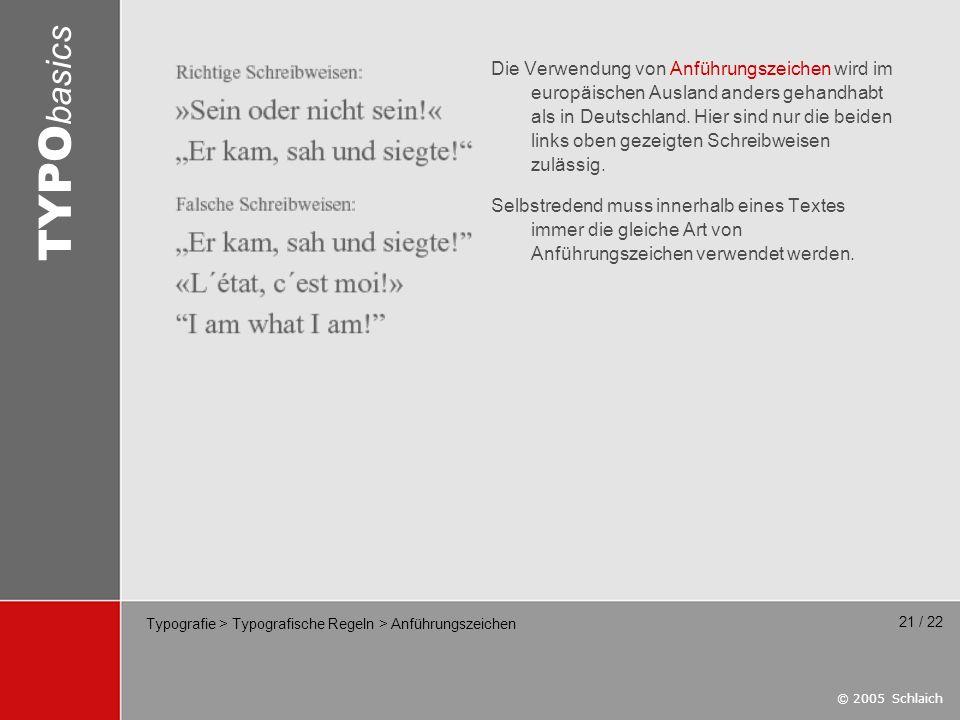 Typografie > Typografische Regeln > Anführungszeichen