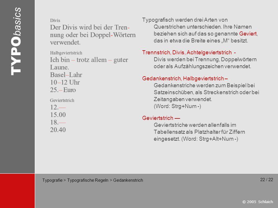 Typografie > Typografische Regeln > Gedankenstrich