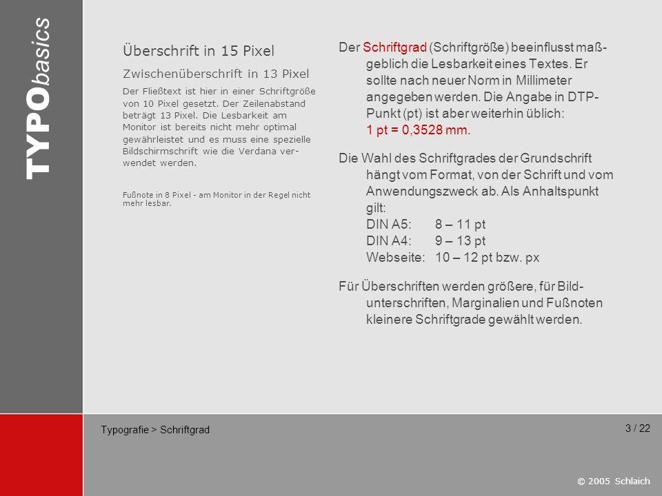 Typografie > Schriftgrad