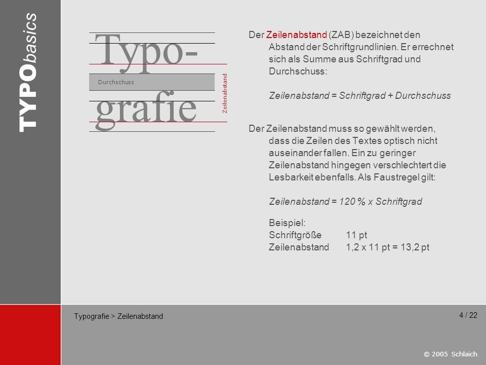 Typografie > Zeilenabstand