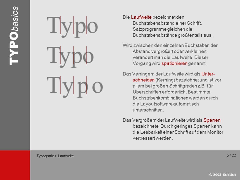 Typografie > Laufweite